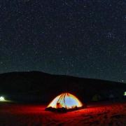 Campo tendato notte Deserto Oman